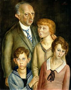 'Family Portrait (Family Glaser)' by German painter Otto Dix (1891-1969). via I am a child