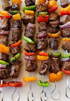 Grilled Steak Kebabs Recipe on Yummly. @yummly #recipe