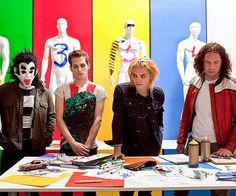 My Chemical Romance - Ray Toro, Frank Iero, Gerard Way, Mikey Way - Danger Days era Emo Bands, Music Bands, My Chemical Romance, Ray Toro, Mikey Way, Black Parade, Killjoys, Welcome To The Jungle, Frank Iero