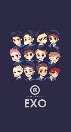 Read EXO from the story Wallpapers KPOP by PeakBoo (B O O) with 871 reads. Exo Xiumin, Kpop Exo, Chibi Wallpaper, Cartoon Wallpaper Hd, Wallpaper Desktop, Pastel Wallpaper, Wallpapers Kpop, Kpop Backgrounds, Iphone Wallpapers