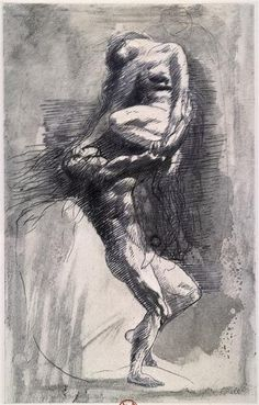 Auguste Rodin, Dessin n° 8, non daté, BnF.  Discover the coolest shows in New York at www.artexperience...