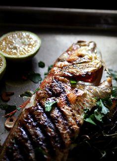 Herb grilled fish in Itoyori