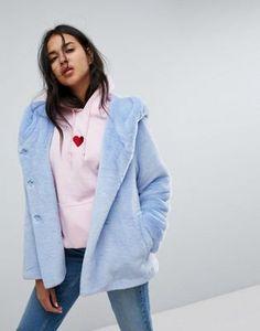 ASOS | ASOS Faux Fur Coat with Hood