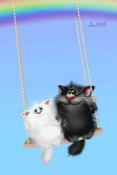 Tips For Introducing Cats I Love Cats, Crazy Cats, Cool Cats, Gato Gif, Animation, Cat Drawing, Cat Memes, Cute Cartoon, Cat Art