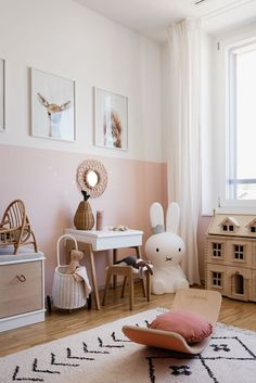We just can't get enough of this gorgeous child's play corner by 👈🏻 featuring the Miffy lamp, Ferm Living KuKu doll bed and… Baby Bedroom, Baby Room Decor, Nursery Room, Ikea Girls Bedroom, Girls Bedroom Wallpaper, Girls Bedroom Furniture, Girl Nursery, Bedroom Ideas, Toddler Rooms
