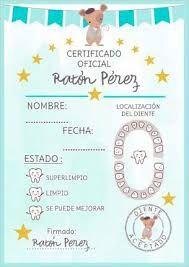 Resultado De Imagen Para Raton Perez Certificado Para Imprimir Ratones Libro De Bebé Ratoncito De Los Dientes