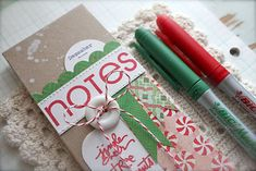 Michelle Wooderson Holiday Note Pad