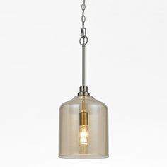 Elements Soft Champagne One-Light 24-Inch Wide Dome Pendant