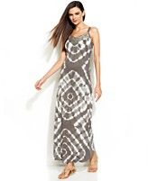 INC International Concepts Beaded Tie-Dye Maxi Dress