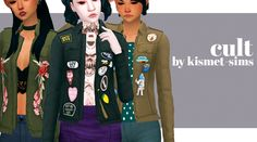 sims 4 mm cc maxis match denim jacket with badges