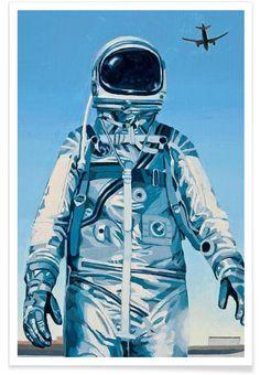 Under the Flight Path als Premium Poster door Scott Listfield   JUNIQE
