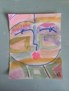 Pretty Girl ORIGINAL | Abstract Face / People Art, $25