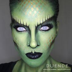 """Vaizdo rezultatas pagal užklausą """"crocodile halloween makeup"""""""