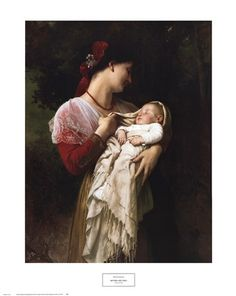 Mother and Child Fine-Art Print by William Adolphe Bouguereau
