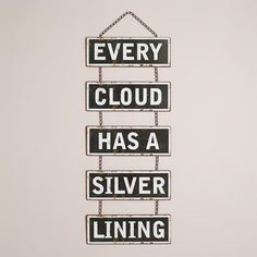 One of my favorite discoveries at WorldMarket.com: 'Every Cloud' Wall Decor