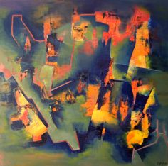 """Arrabal"" - Fernando Gastron - Oleo sobre tela - 100 x 100 cm. - www.esencialismo.com"