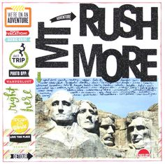'Mt. Rushmore' scrapbook page by mambi Design Team member Candi Billman | me & my BIG ideas