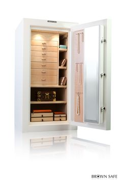 High security home jewelry safes bringing you the beauty and luxurious features worthy of your jewelry collection.