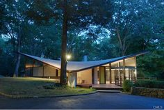 The Evans House. 44 Benedict Hill Rd, New Canaan, CT. James Evans, Built 1961.
