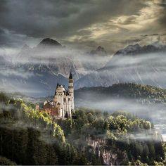 The Fairytale Castle-  Neuschwanstein Castle, Germany.   Photo by @zuckerwatte1907