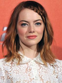 "Look we love: Emma Stone's coral cheeks and lips at the Rome premiere of ""The Amazing Spider-Man 2"""