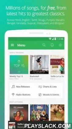 Saavn Music & Radio  Android App - playslack.com ,  Saavn is unlimited, free access to all your Bollywood, English, Hindi, and Indian regional songs, music, and radio stations – wherever you go.  Find your favorite Bollywood, Hindi and English songs, listen to your favorite Indian and International artists, create your own playlists, listen to playlists created by our expert curators, or play online radio from any song or artist. Saavn delivers the perfect music to suit your mood. Follow…