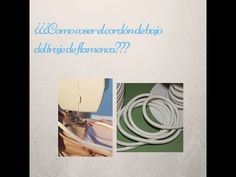 Cómo poner el cordón del bajo del traje de flamenca - YouTube Pattern Drafting, Refashion, Sewing Hacks, Place Card Holders, Diy Projects, Couture, Fabric, Friends, Crochet