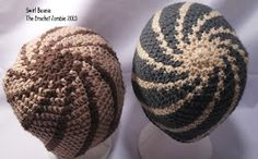 Swirl Bennie   The Crochet Zombie   Jan 2013     Materials:     5.0mm Crochet Hook   4ply Worsted Weight Yarn. (2 Color...