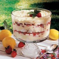 Strawberry Lemon Trifle Recipe   Taste of Home Recipes