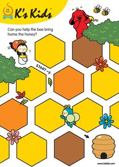 Preschool Education, Preschool Worksheets, Maze Worksheet, Mazes For Kids, Imagination Station, Educational Games For Kids, Pre Writing, Bee Theme, Book Layout