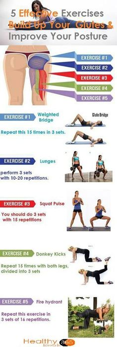 5 Effective Exercises That Will Build Up Your Glutes & Improve Your Posture