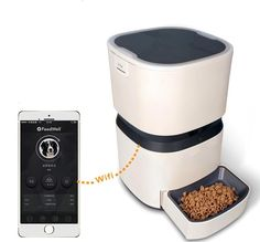SZXC 8L Mobile App Control Intelligent Pet Feeding Equipment Dog Cat Food Timing Automatic Feeding Cat Dog Food-Daily Four Meals Whitefor pets