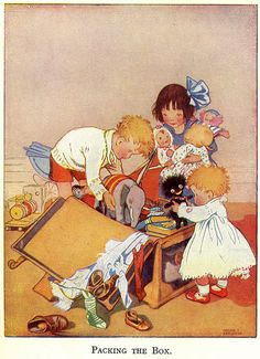 "Packing The Box By Honor C. Appleton . From the story "" Mother's Three "" 