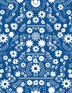 F I E S T A   F U N ! -- New fabric collection by Dana Willard, for Art Gallery Fabrics.  Comes out in December.  Would be cool to hand-embroider with colored threads inside the white flowers.
