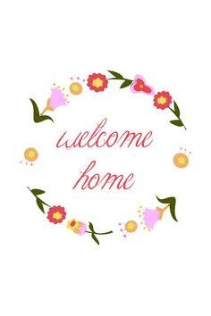 free printable: welcome home
