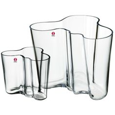 iittala Alvar Aalto, vase set 160 + 95 mm, clear