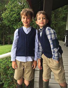 Ravelry: School boy vest #316 pattern by Michelle Porter