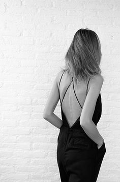 simple open back dress with thin straps #style #fashion #sexy | @andwhatelse