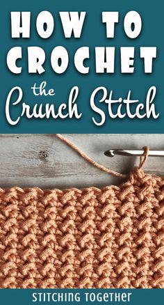 Best Pictures Crunch Stitch und Even Moss Stitch Crochet Tutorial - - . Thoughts Crunch Stitch und Even Moss Stitch Crochet Tutorial – – Crochet Stitches Free, Stitch Crochet, Tunisian Crochet, Crochet Basics, Crochet Blanket Patterns, Knitting Stitches, Free Crochet, Knit Crochet, Knitting Patterns