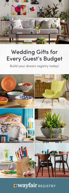 Create your dream registry today! Your registry, your way. Pick out home items from all your favorite brands like KitchenAid and Kate Spade, and create a registry that's as unique as your love. Shop for every room and every style. Each gift will be a reminder of your special day for years to come. Style starts here.