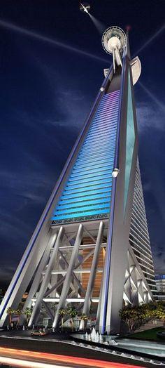 Al Rajhi Tower, Riyadh, Saudi Arabia designed by Atkins :: height 350m :: vision