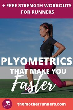 Plyometrics are proven to make you a faster runner! These are the 8 best plyometric exercises for runners! PLUS get a FULL month of FREE Strength Plans for Runners! #running #runner #beginnerrunner #motherrunner #runningtips #runningmotivation Plyometric Workout, Plyometrics, Running Injuries, Strength Workout, Running Motivation, Running Tips, How To Run Faster, Make It Yourself, How To Plan