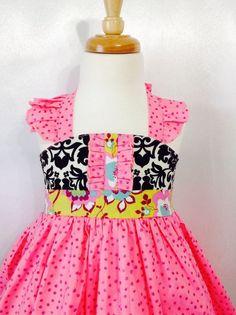 Girl Dress Size 3-4; Royal Ellie Halter; Handmade; Everyday Use; 100 % Cotton #Handmade #DressyEverydayHoliday