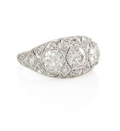 Art Deco three stone ring  Kentshire