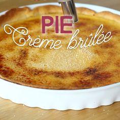 Creme Brulee Pie Recipe, Caramel Custard Recipe, Creme Brulee Cake, Custard Recipes, Tart Recipes, Gourmet Recipes, Pie Dessert, Cookie Desserts, Cookie Recipes