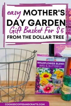 If your mom loves to garden, then make her this easy gardening gift basket for Mother's Day! Your mom will think of you when she plants the seeds and enjoys them all summer long. Mother's Day gift Basket | Dollar Tree Gift Basket | Dollar Tree Gift Basket Ideas | Mother's Day Gift Basket Ideas | Dollar Tree Mother's Day Gift Basket Idea | Gardening Gift Basket | Dollar Tree garden gift basket Diy Crafts For Gifts, Homemade Crafts, Dollar Tree Gifts, Mother's Day Gift Baskets, Tree Garden, Tree Cookies, Easy Garden, Basket Ideas, Garden Gifts