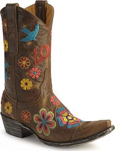 OMG ... if I could design a cowboy boot for me THIS would be it!! LOVE these!!