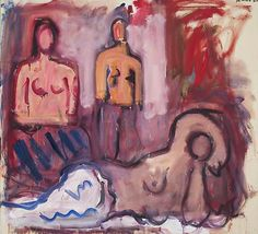 Robert De Niro Sr, Three Women 1968 Oil on canvas 72 x 78 inches