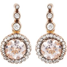 Selim Mouzannar Diamond, morganite & pink-gold Beirut earrings ($2,264) ❤ liked on Polyvore featuring jewelry, earrings, diamond earring jewelry, diamond earrings, rose gold diamond jewelry, diamond jewelry and pave diamond earrings