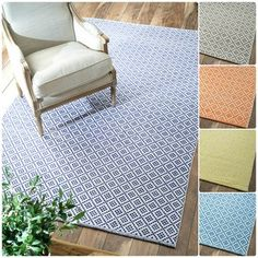 nuLOOM Handmade Flatweave Moroccan Trellis Navy Cotton Rug (8' x 10') | Overstock.com Shopping - Great Deals on Nuloom 7x9 - 10x14 Rugs